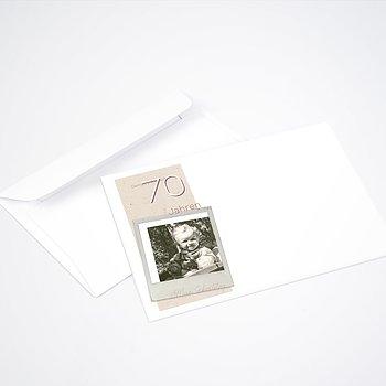 Umschlag mit Design Geburtstag - Gelungene Feier 70