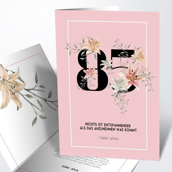Geburtstagseinladungen - Floras Garten 85