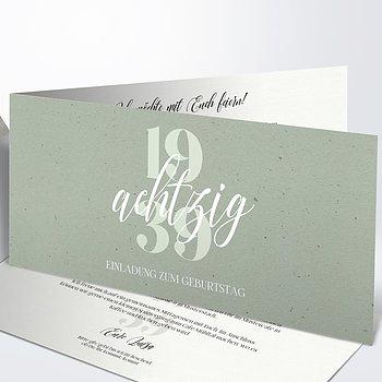 Geburtstagseinladungen - Patina 80