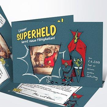 Einladungen zur Einschulung - Unser Superheld