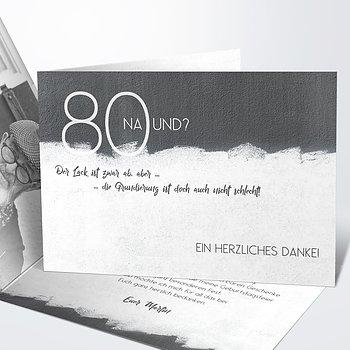 Danksagung Geburtstag - Neuer Anstrich 80