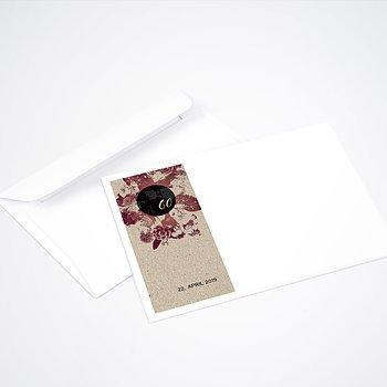 Umschlag mit Design Geburtstag - Flower Art 60