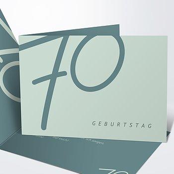 Geburtstagseinladungen - Famose 70