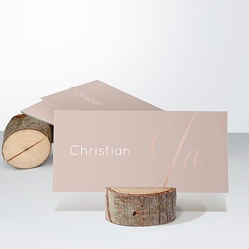 Tischkarten Hochzeit - Glitterfunken