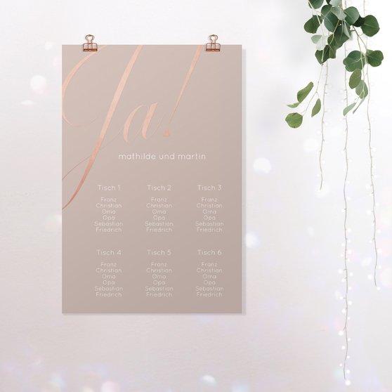 Sitzplan Hochzeit - Glitterfunken