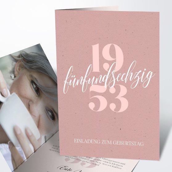 Geburtstagseinladungen - Patina 65