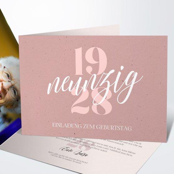 Geburtstagseinladungen - Patina 90