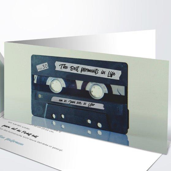 Geburtstagseinladungen - Tonträger 30