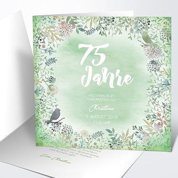 Geburtstagseinladungen - Blütenreigen 75
