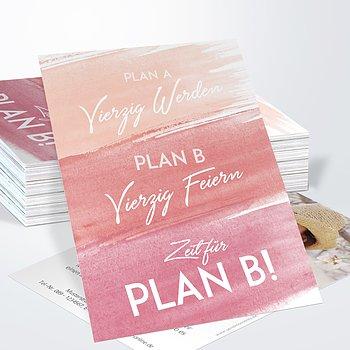 Geburtstagseinladungen - Plan B