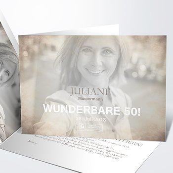 Geburtstagseinladungen - Moviestar 50