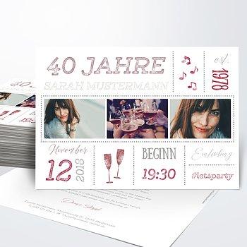 Geburtstagseinladungen - Terminsache 40