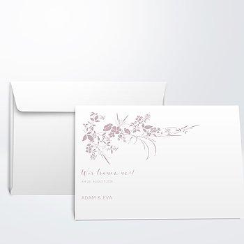 Umschlag mit Design Hochzeit - Blühende Aussicht