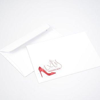 Umschlag mit Design Geburtstag - High Heels 60