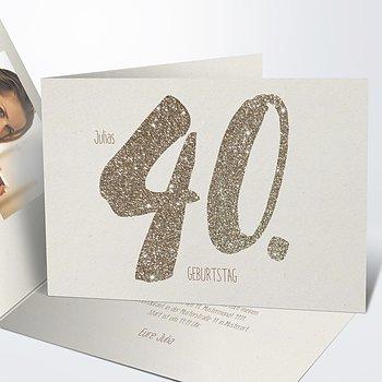 Geburtstagseinladungen - Goldene Nummer 40