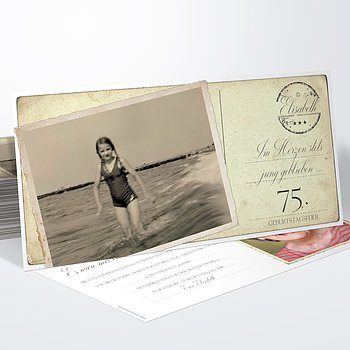 Geburtstagseinladungen - Jung geblieben 75