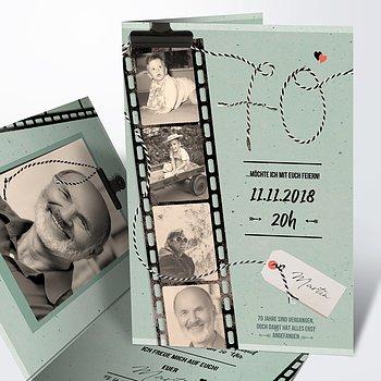 Geburtstagseinladungen - Filmstreifen 70
