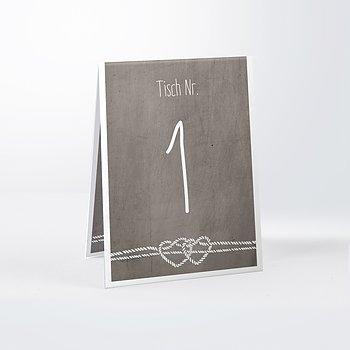 Tischnummern - Liebesknoten