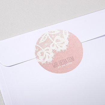 Umschlagssiegel - Pastellspitze