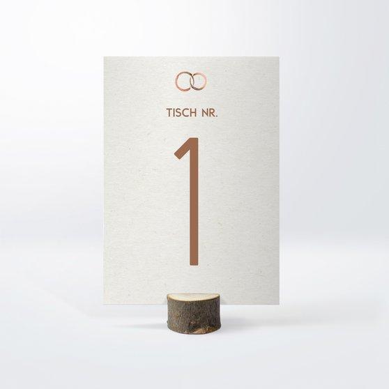 Tischnummern - Edles Ja