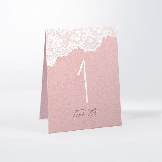 Tischnummern - Pastellspitze