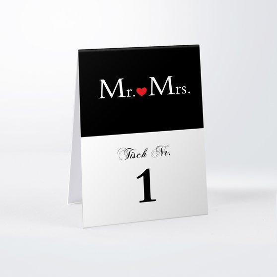 Tischnummern - Mr & Mrs