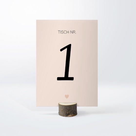 Tischnummern - Innige Liebe