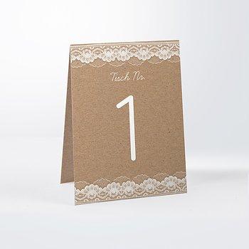 Tischnummern - Hochzeitsspitze