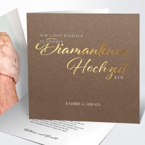 Einladungskarten -  Diamantene Hochzeit