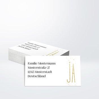 Empfängeraufkleber Hochzeit - Goldsturm