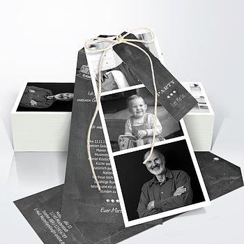 Geburtstagseinladungen - Jahrestafel 70