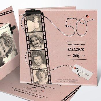 Geburtstagseinladungen - Filmstreifen 50