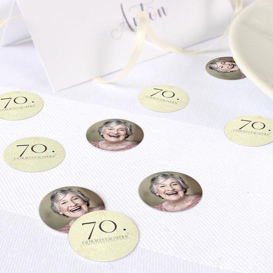 Konfetti Streudeko Geburtstag - Jung geblieben 70