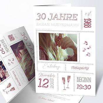 Geburtstagseinladungen - Terminsache 30