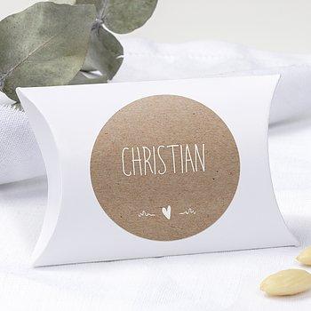 Geschenkaufkleber für Gastgeschenke - Rustique