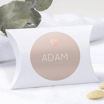 Geschenkaufkleber für Gastgeschenke - Glitterfunken