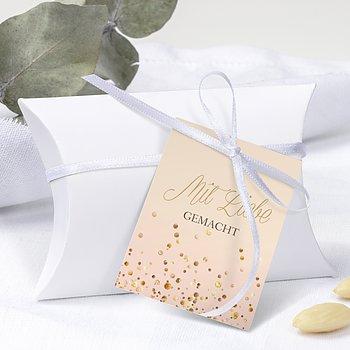 Geschenkanhänger - Geflitter