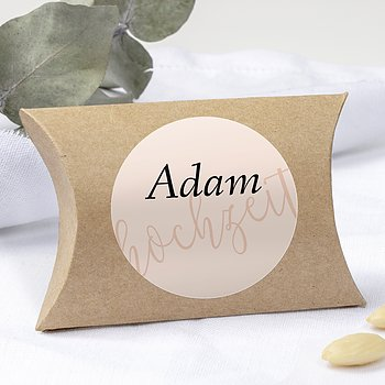 Geschenkaufkleber für Gastgeschenke - Innige Liebe