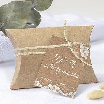Geschenkanhänger - Hochzeitsspitze
