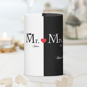 Windlicht als Tischdeko - Mr & Mrs