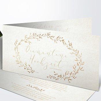 Diamantene Hochzeit Einladung - Rankenzauber Diamant