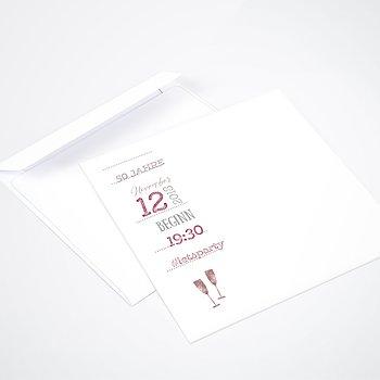 Umschlag mit Design Geburtstag - Terminsache 50