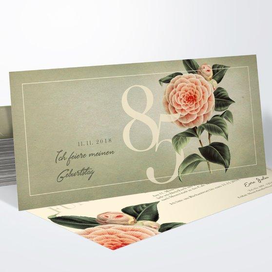 Geburtstagseinladungen - Kamelie 85