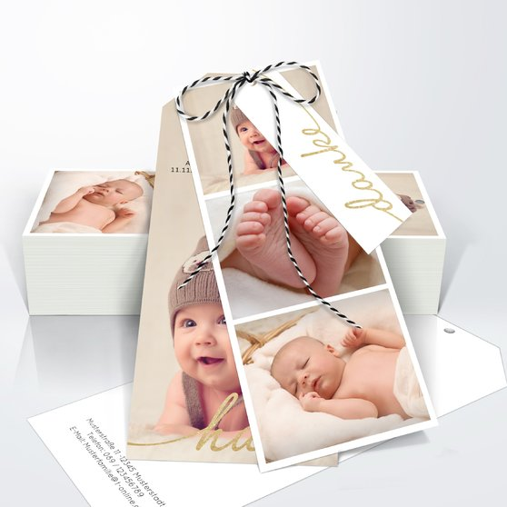 Danksagung Geburt - Hallo Baby