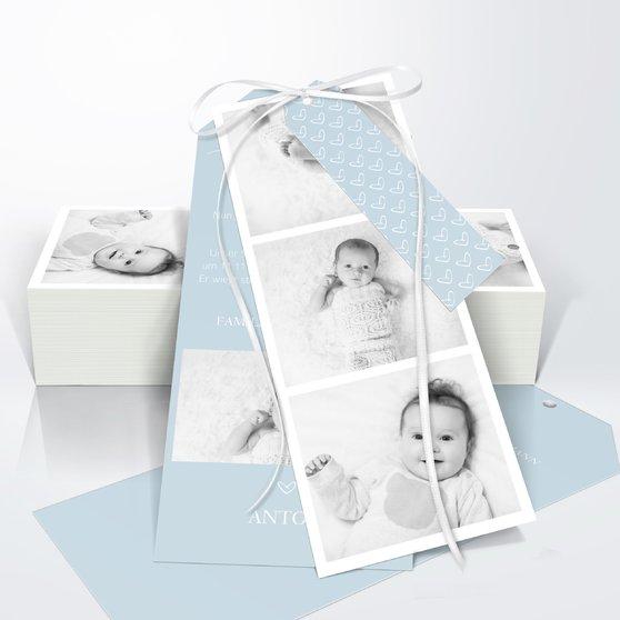 Kleiner Schatz - Kartenset Trio 90x210 - Puderblau
