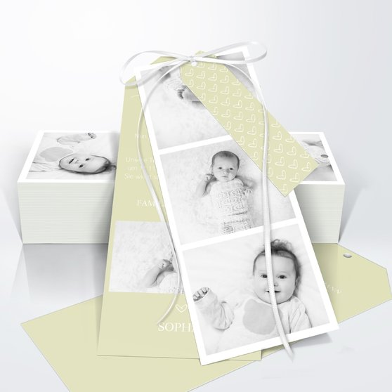 Kleiner Schatz - Kartenset Trio 90x210 - Helles Lindgrün