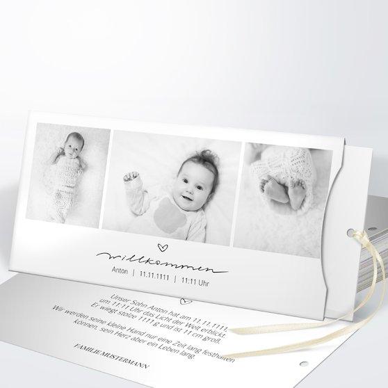 Kleiner Schatz - Einsteckkarte mit Hülle 214x104 - Weiß