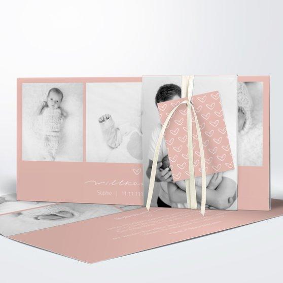 Kleiner Schatz - Kartenset Banderole - Terrakotta