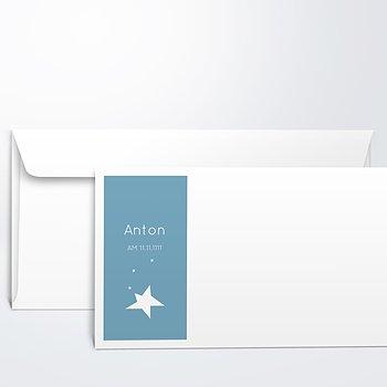 Umschlag mit Design Taufe - Baby Star