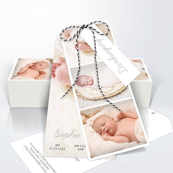 Danksagung Geburt - Einfach & Simple